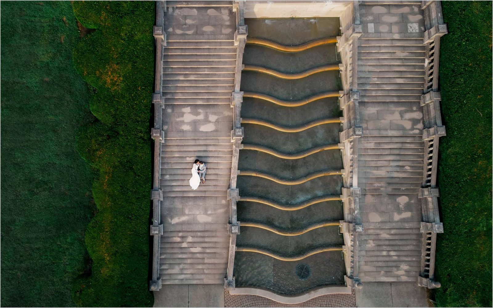 Ault Park drone fountain