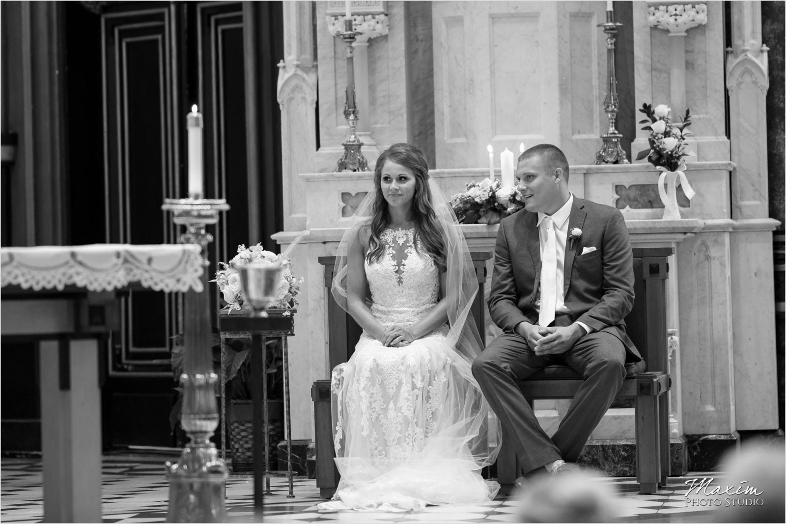 St. Xavier Church Cincinnati Wedding Ceremony
