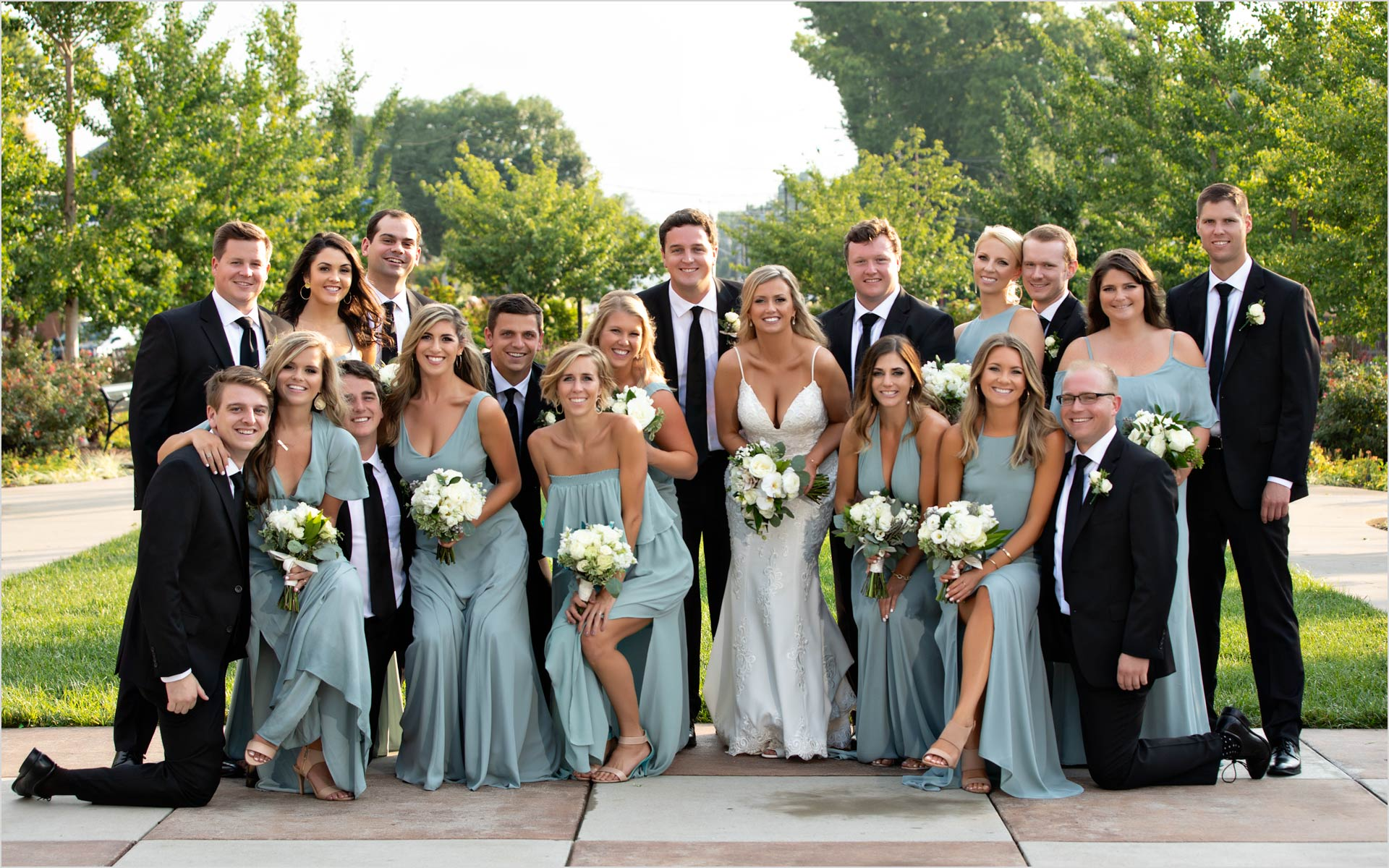 20th Century Theater Bridal Party Teal dresses Cincinnati Ohio
