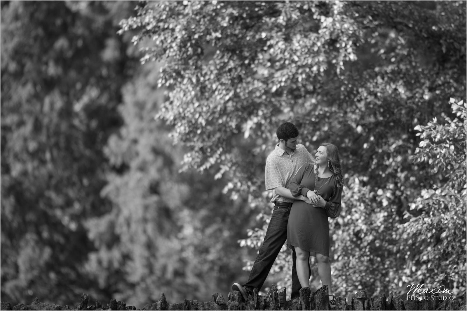 Cincinnati Wedding Photographers Spring Grove Cemetery Engagement