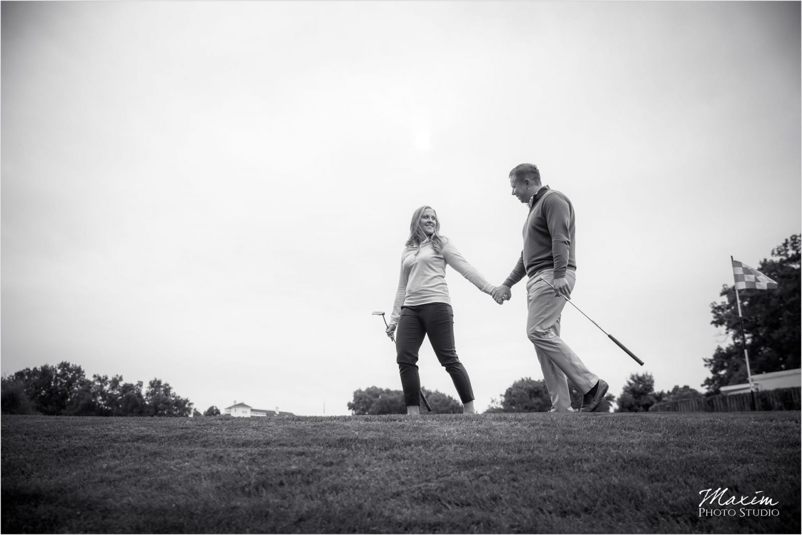 Cincinnati Country Club, Engagement Photography