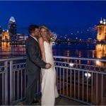 Cincinnati Best Wedding pictures, Roebling Bridge, Cincinnati Marriott Rivercenter, Sunset, Cincinnati skyline sunset wedding