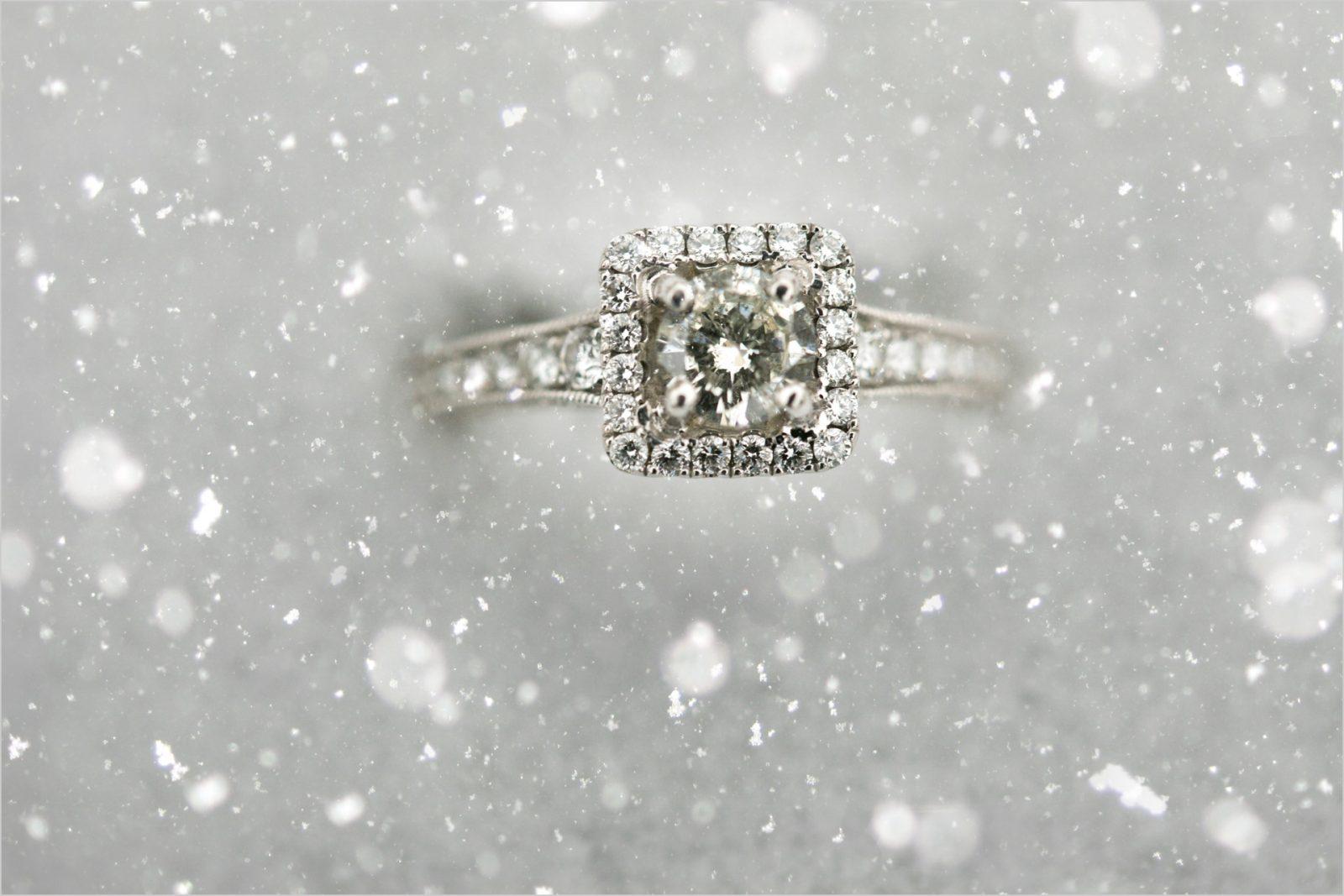 Ault Park Snow Engagement ring, Ault Park Cincinnati Engagement