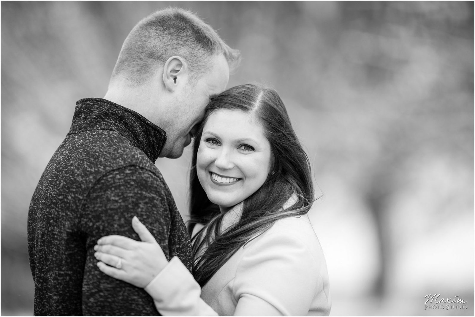 Ault Park Cincinnati Engagement, Snow Engagement, Cincinnati Wedding