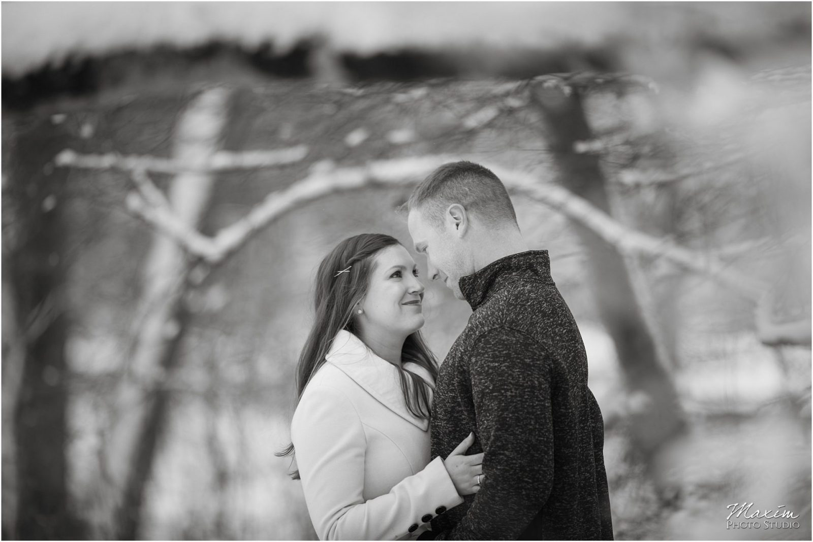 Ault Park Cincinnati Engagement, Snow Engagement, Cincinnati Wedding