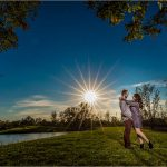 Cox Arboretum Sunburst night engagement