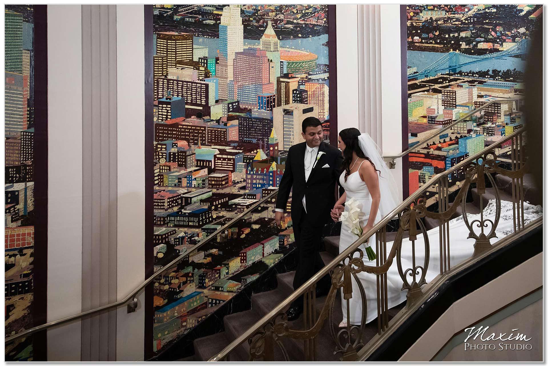 Hilton Netherland Plaza Cincinnati Wedding first look