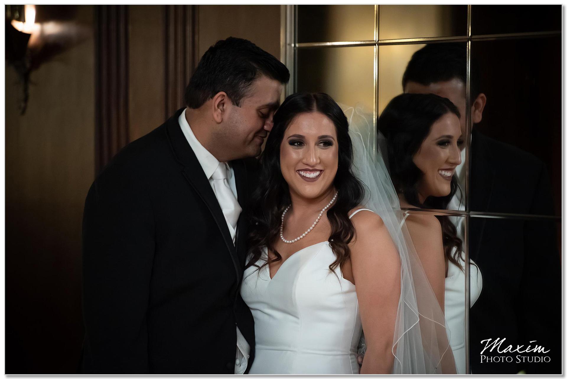 Hilton Netherland Plaza wedding bride groom