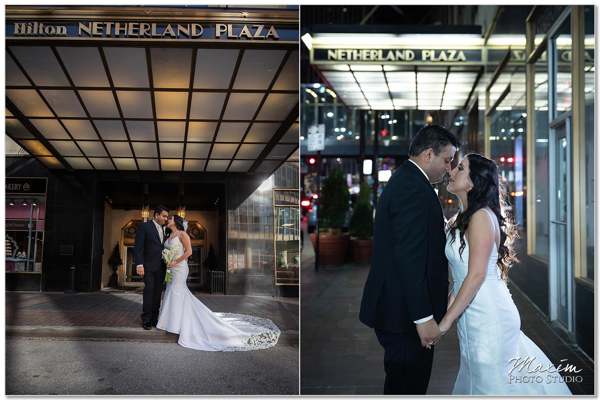 Hilton Netherland Plaza wedding portraits