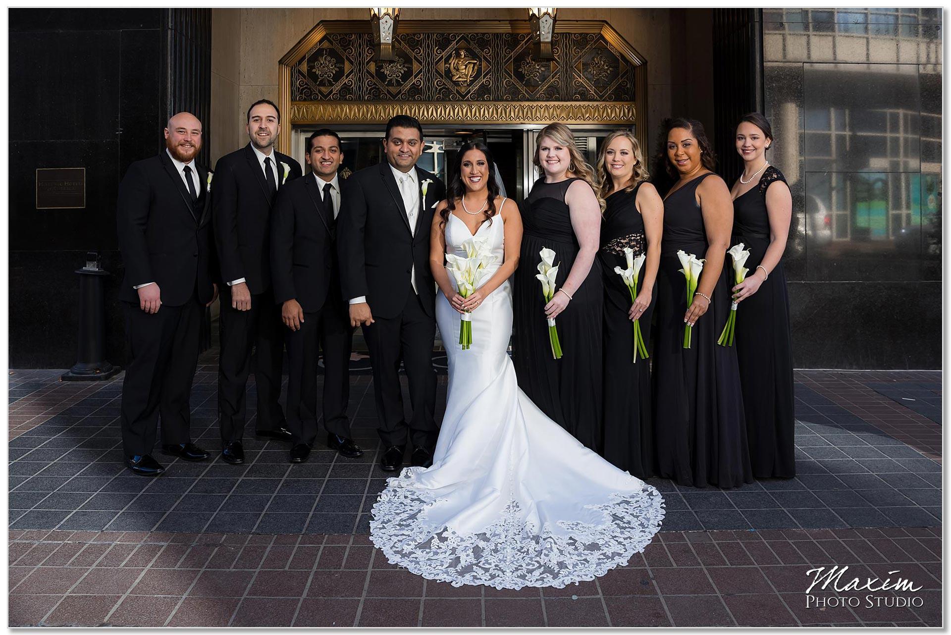 Hilton Netherland Plaza wedding bridal party
