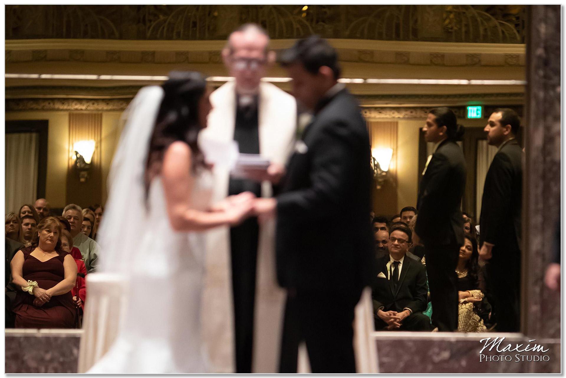 Hilton Netherland Plaza wedding Ceremony parents