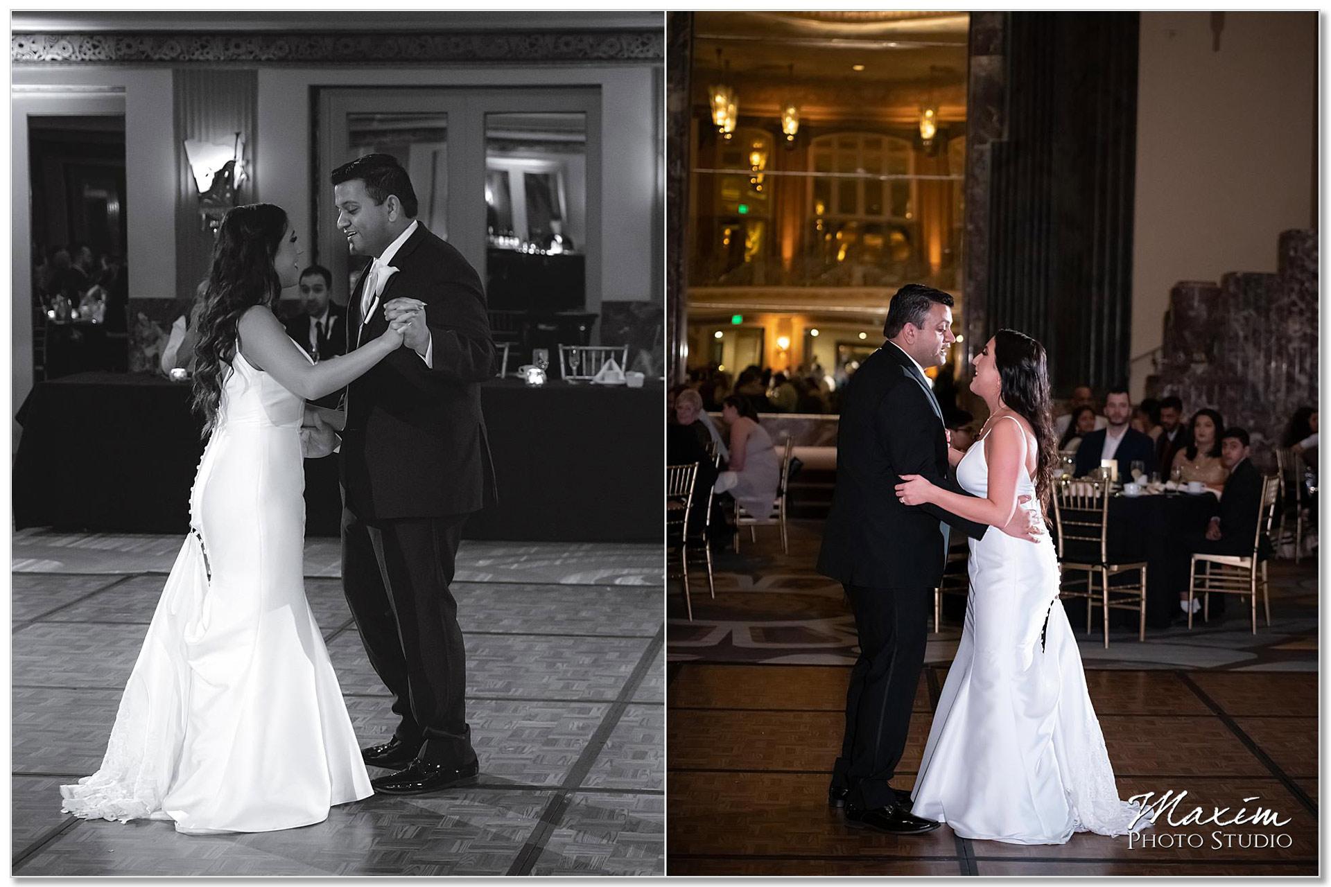 Hilton Netherland Plaza wedding Reception first dance