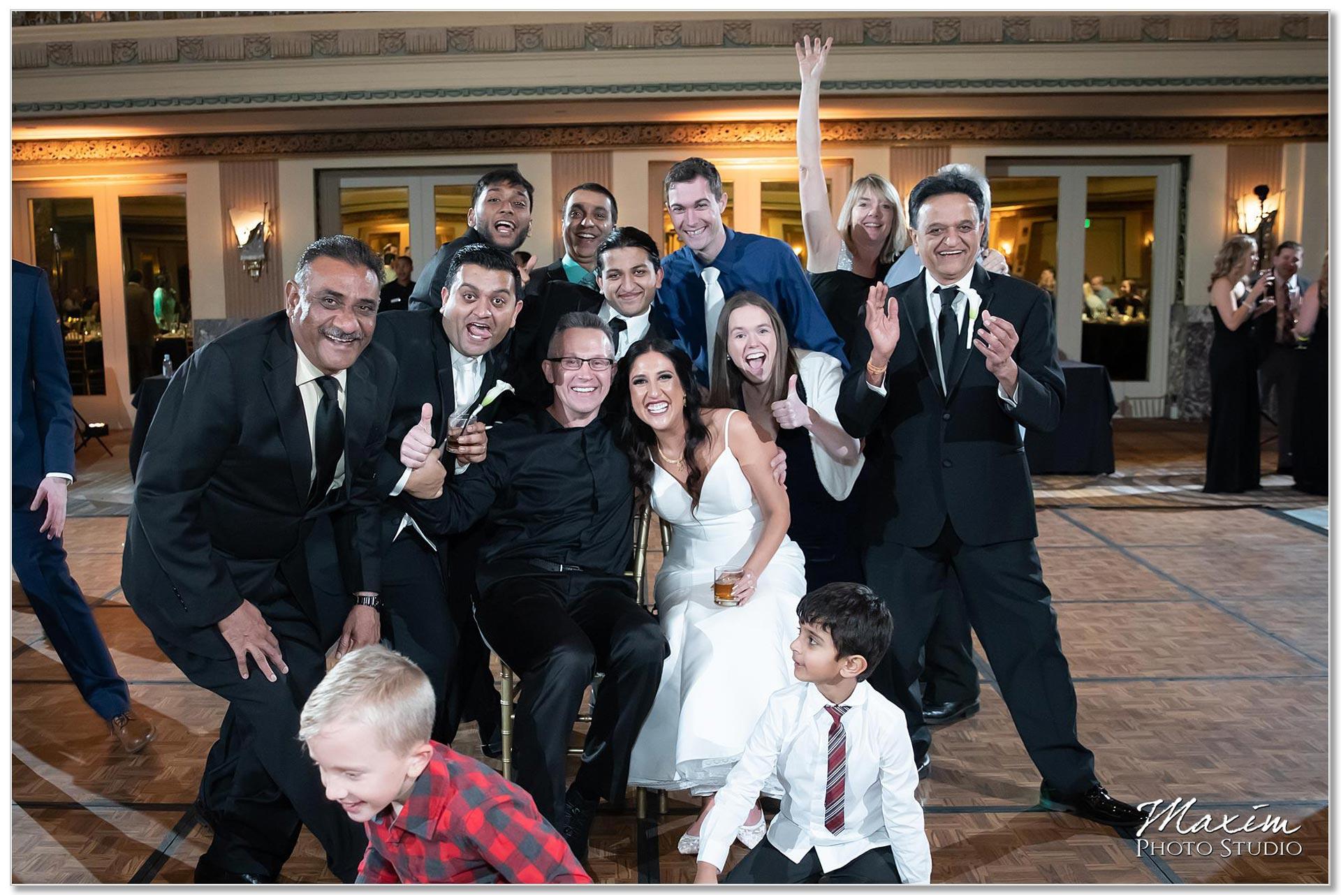Hilton Netherland Plaza Cincinnati Wedding Hall of Mirrors Photo Bomb