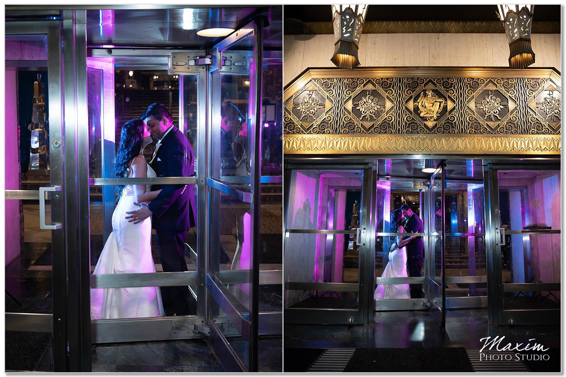 Hilton Netherland Plaza wedding entrance