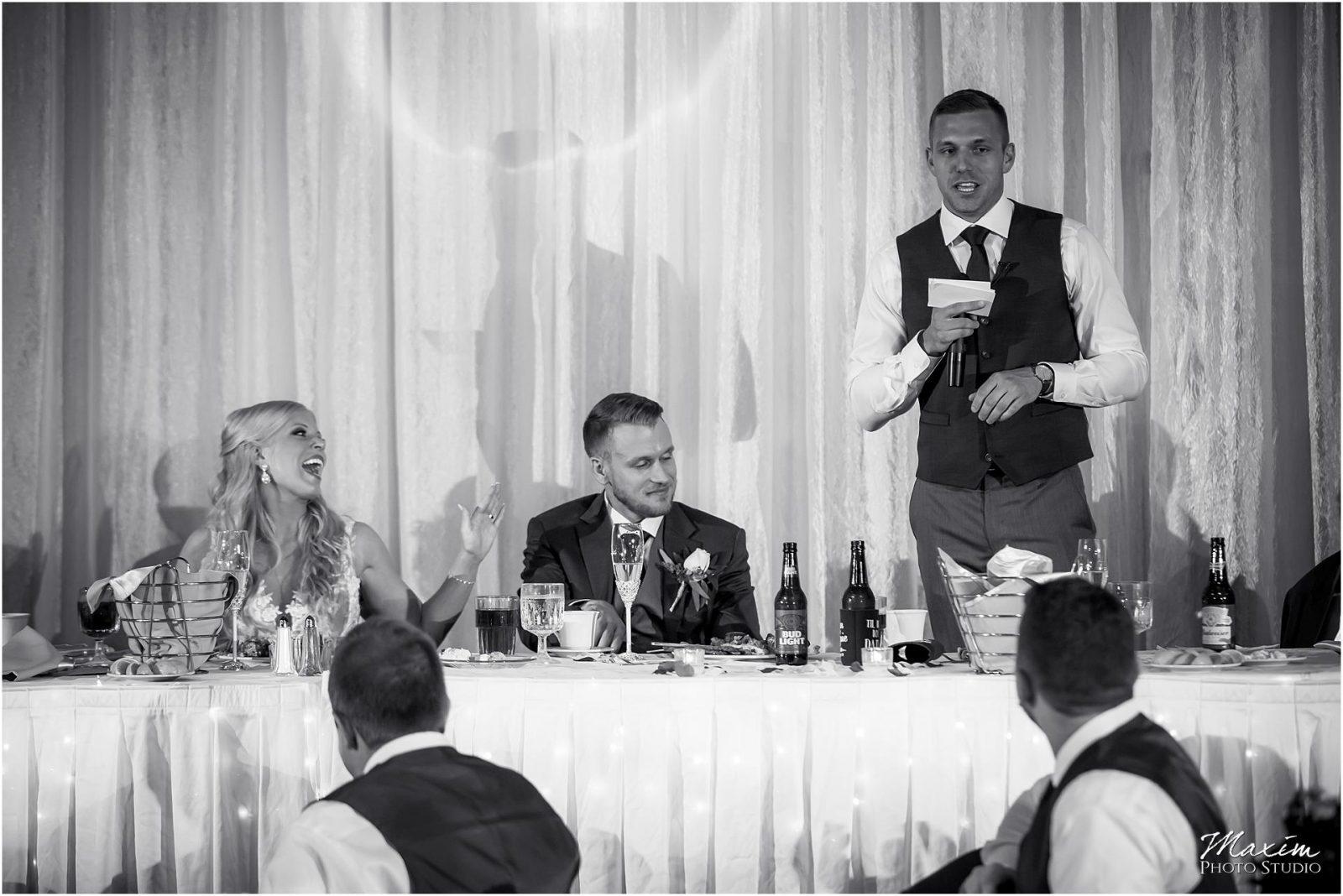 Holiday Inn Airport Wedding, Kentucky Wedding Photographer, Wedding Reception Toasts
