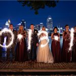 Cincinnati Wedding Sparklers, Cincinnati Skyline, Kentucky Wedding Photographers