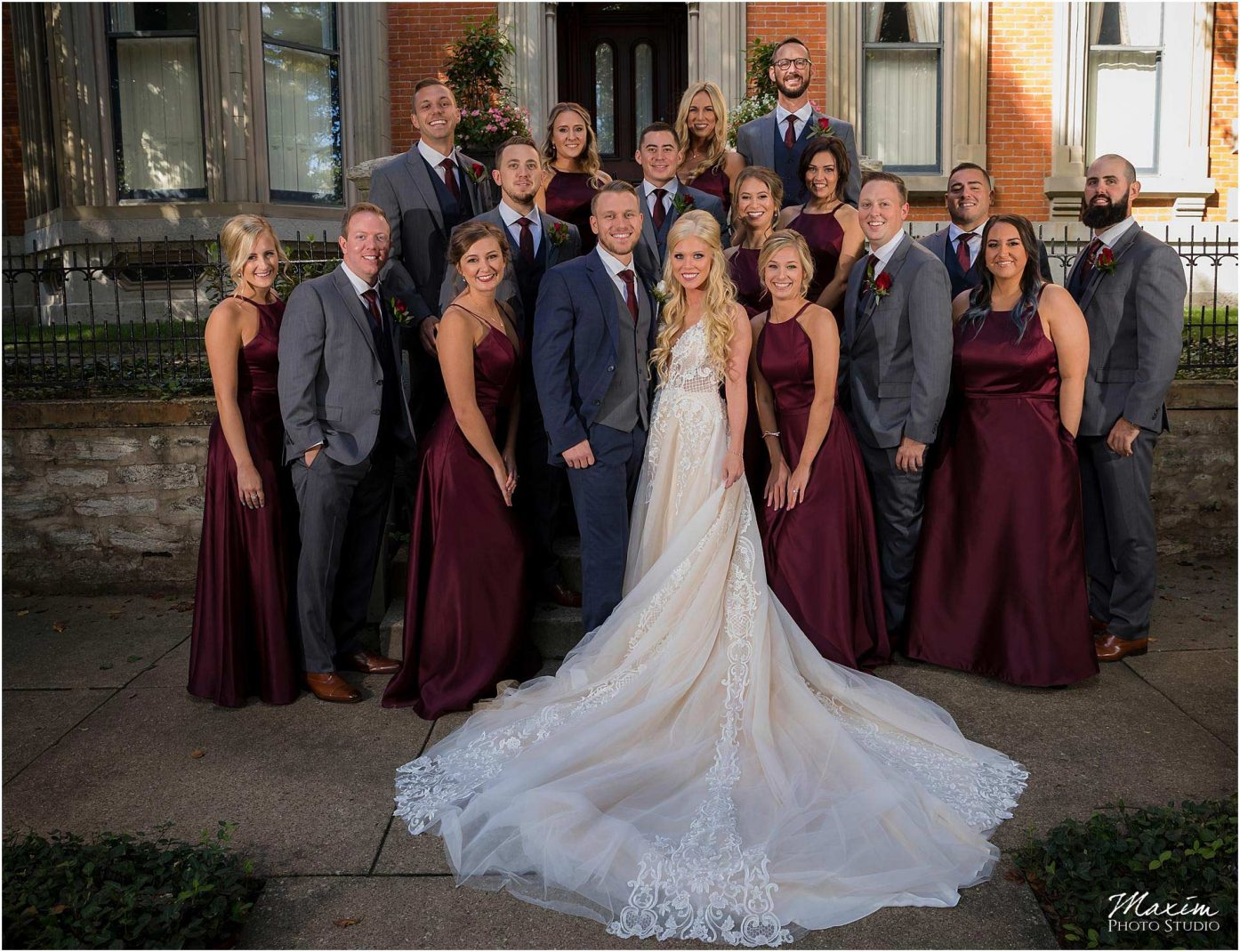 Kentucky Wedding Photographers, Millionaires Row Kentucky Wedding, Bridal Party Portraits
