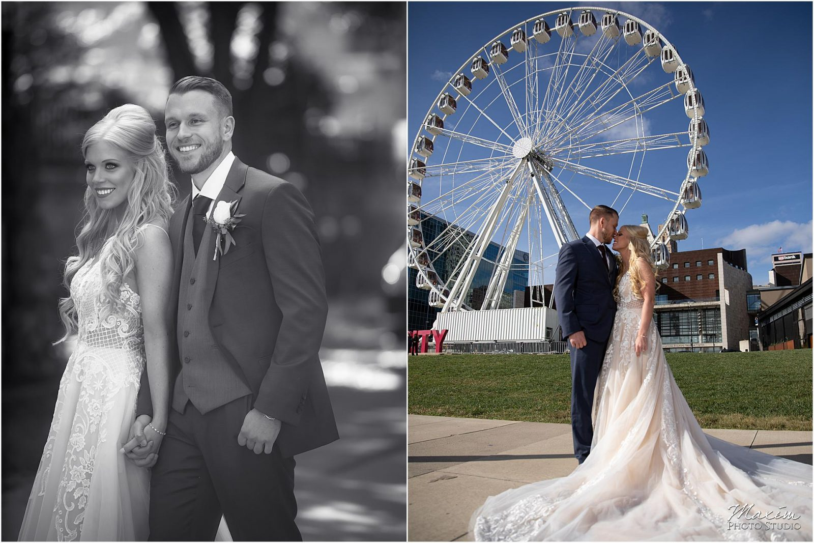 Kentucky Wedding Photographers, Millionaires Row Kentucky Wedding, Bride Groom Portraits