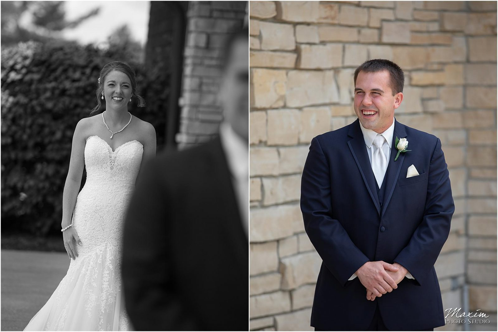Oasis Conference Center, Cincinnati Wedding Photography, Bride groom first look