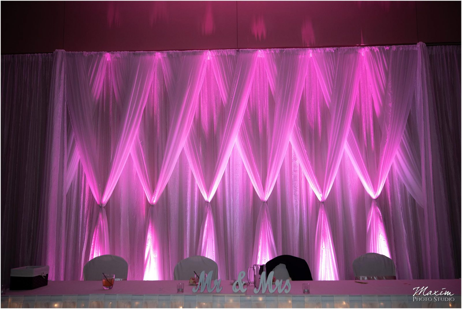 Oasis Conference Center, Cincinnati Wedding Photography, Wedding Reception lighting