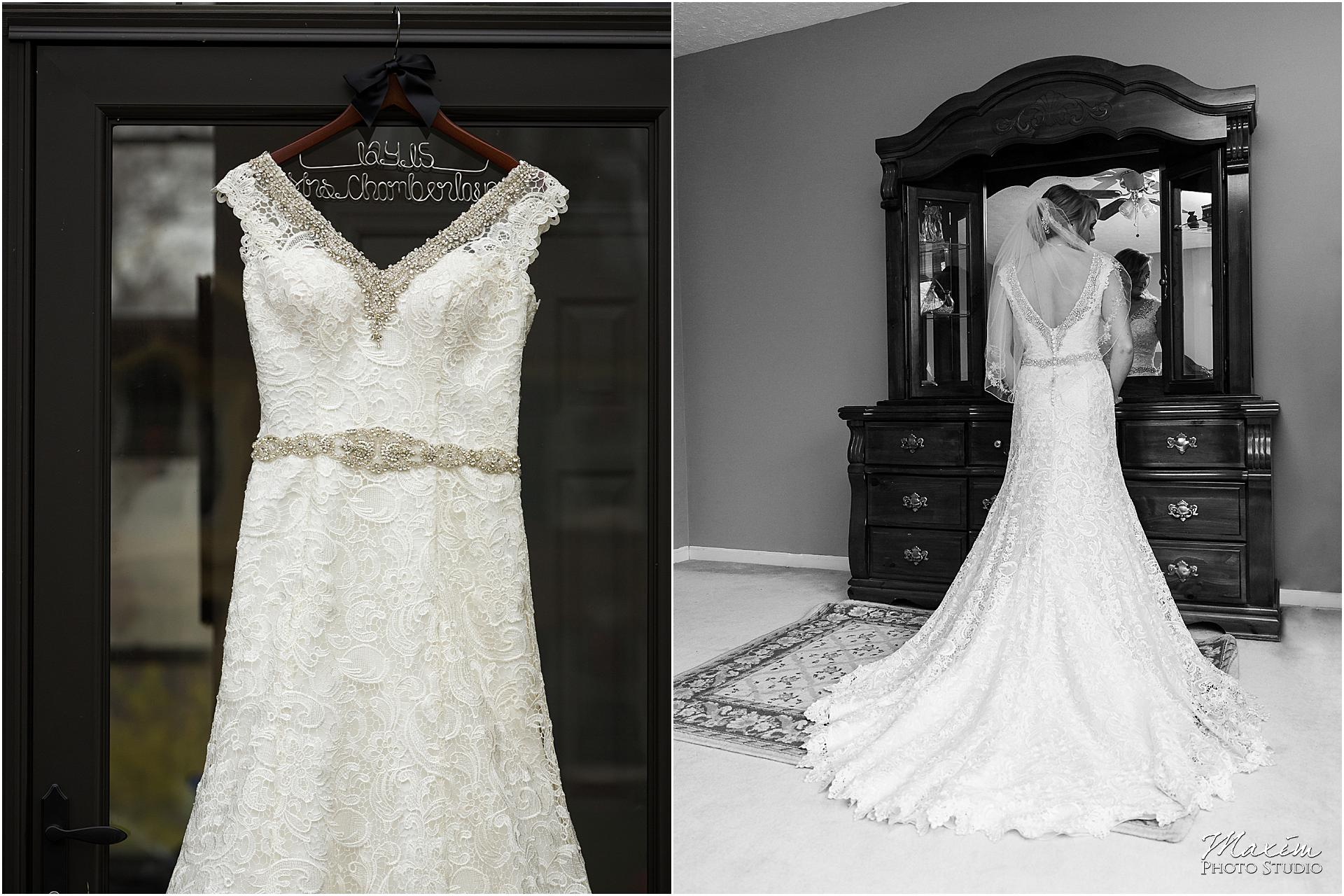 Canopy Creek Wedding bride black and white dress