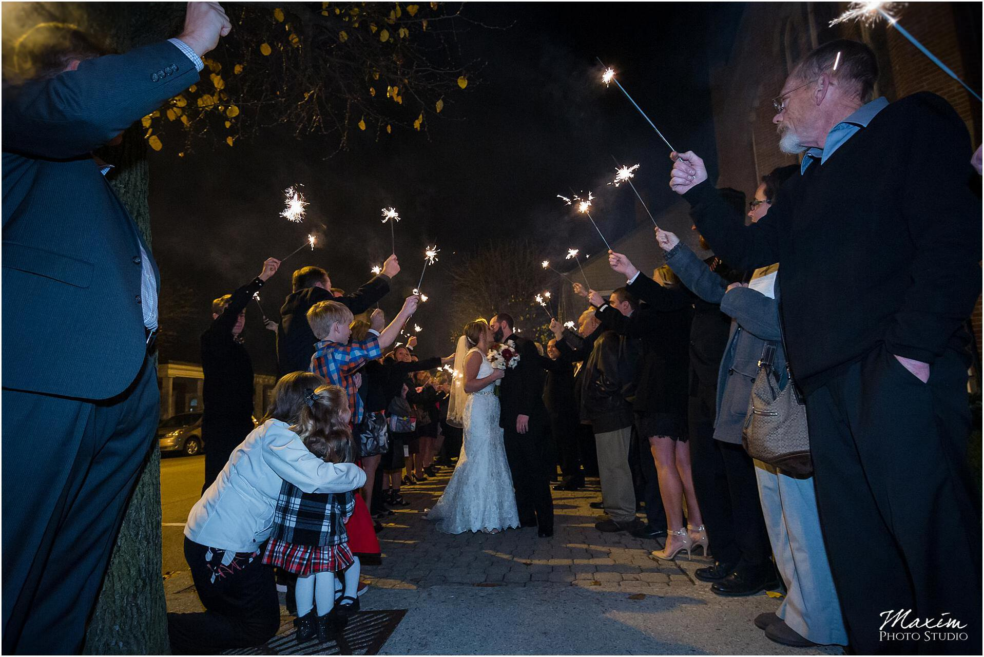 Canopy Creek Dayton Ohio Wedding Reception Sparkler Exit