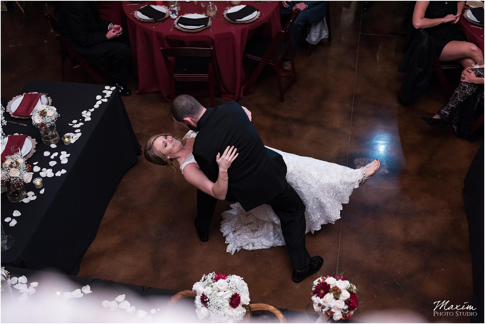 Canopy Creek Dayton Ohio Wedding Reception First Dance dip