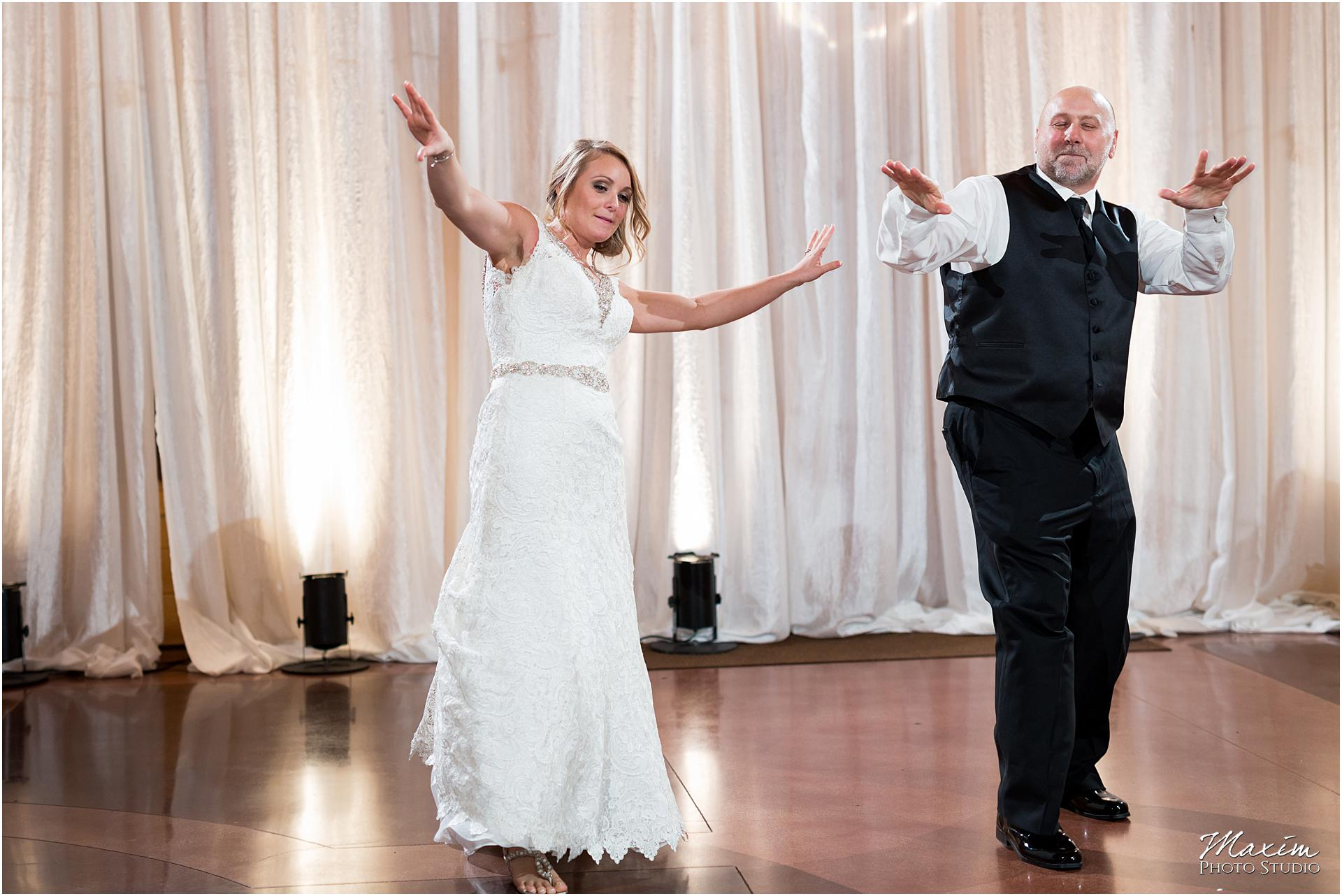 Canopy Creek Dayton Ohio Wedding Reception Bride father dance
