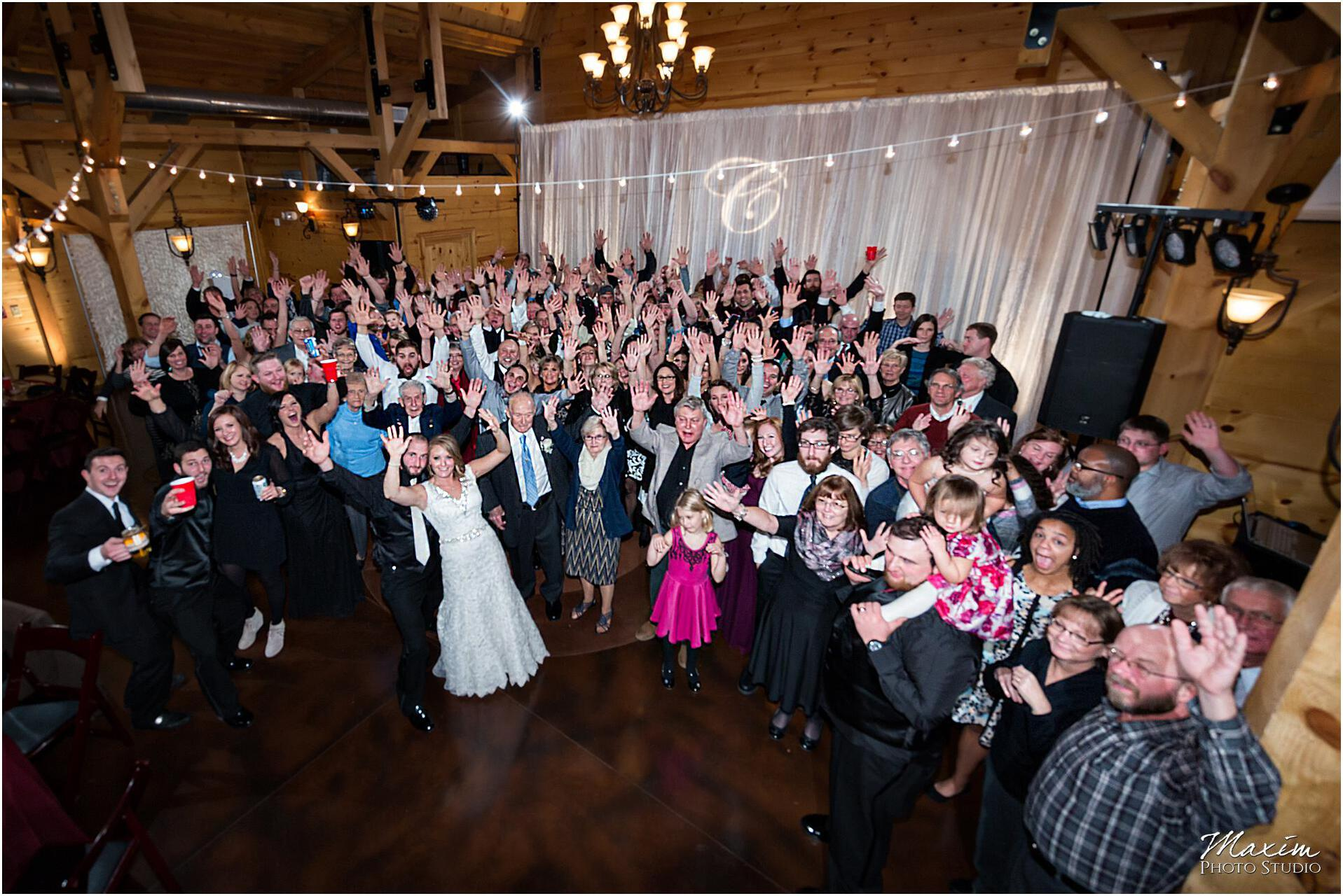 Canopy Creek Dayton Ohio Wedding Reception Group Photo