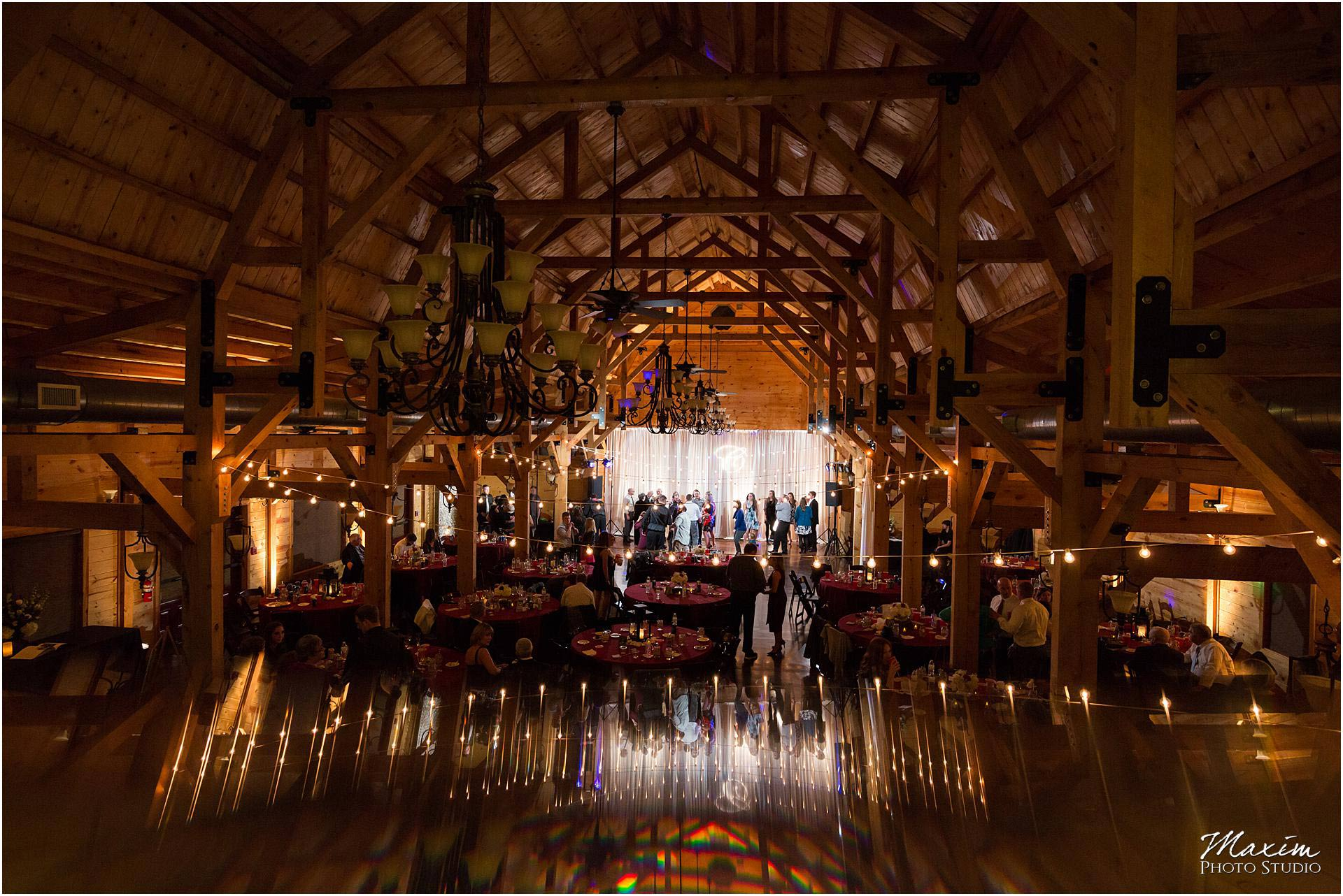 Canopy Creek Dayton Ohio Wedding Reception reflection