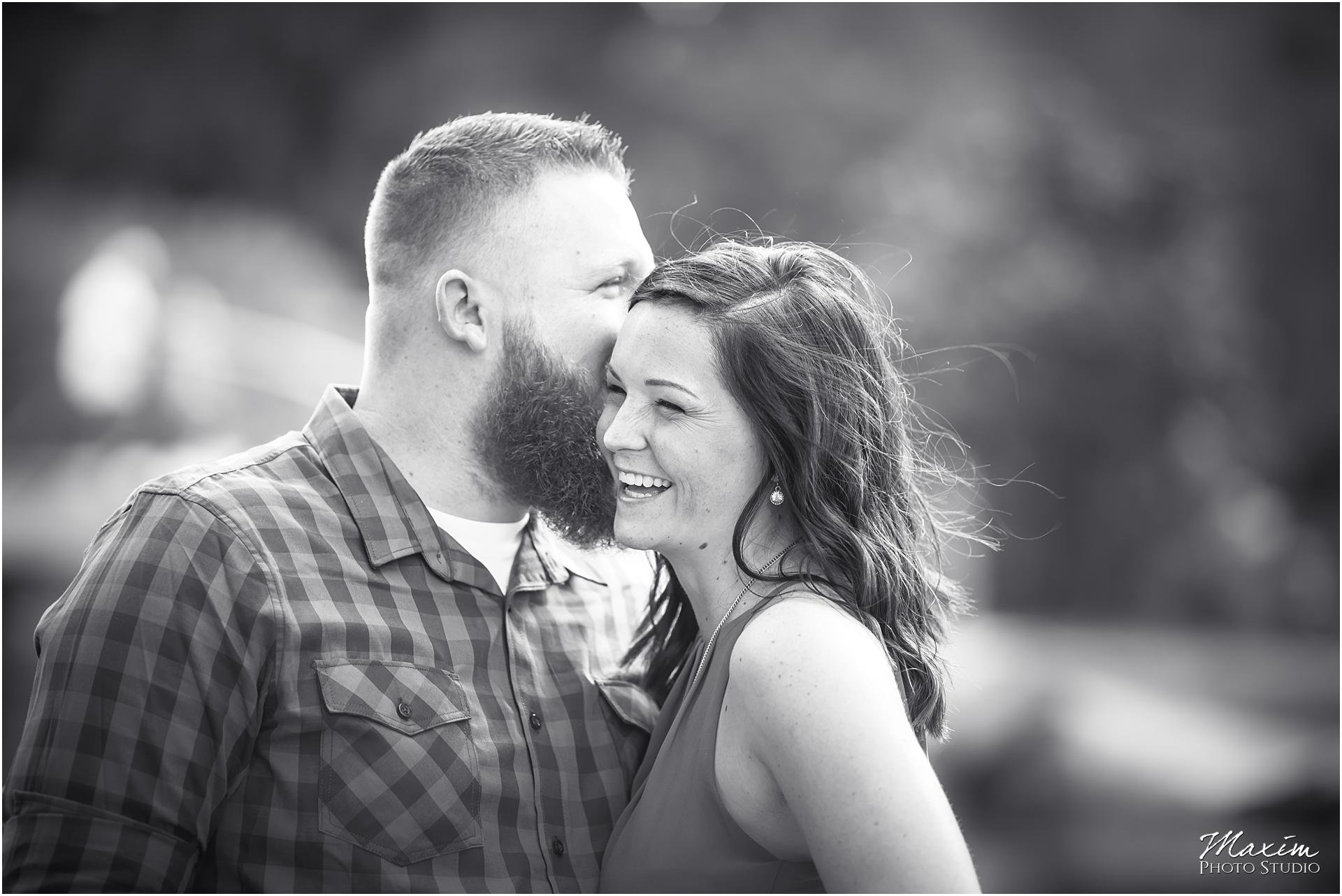 Cox Arboretum Dayton Ohio engagement whispering secret