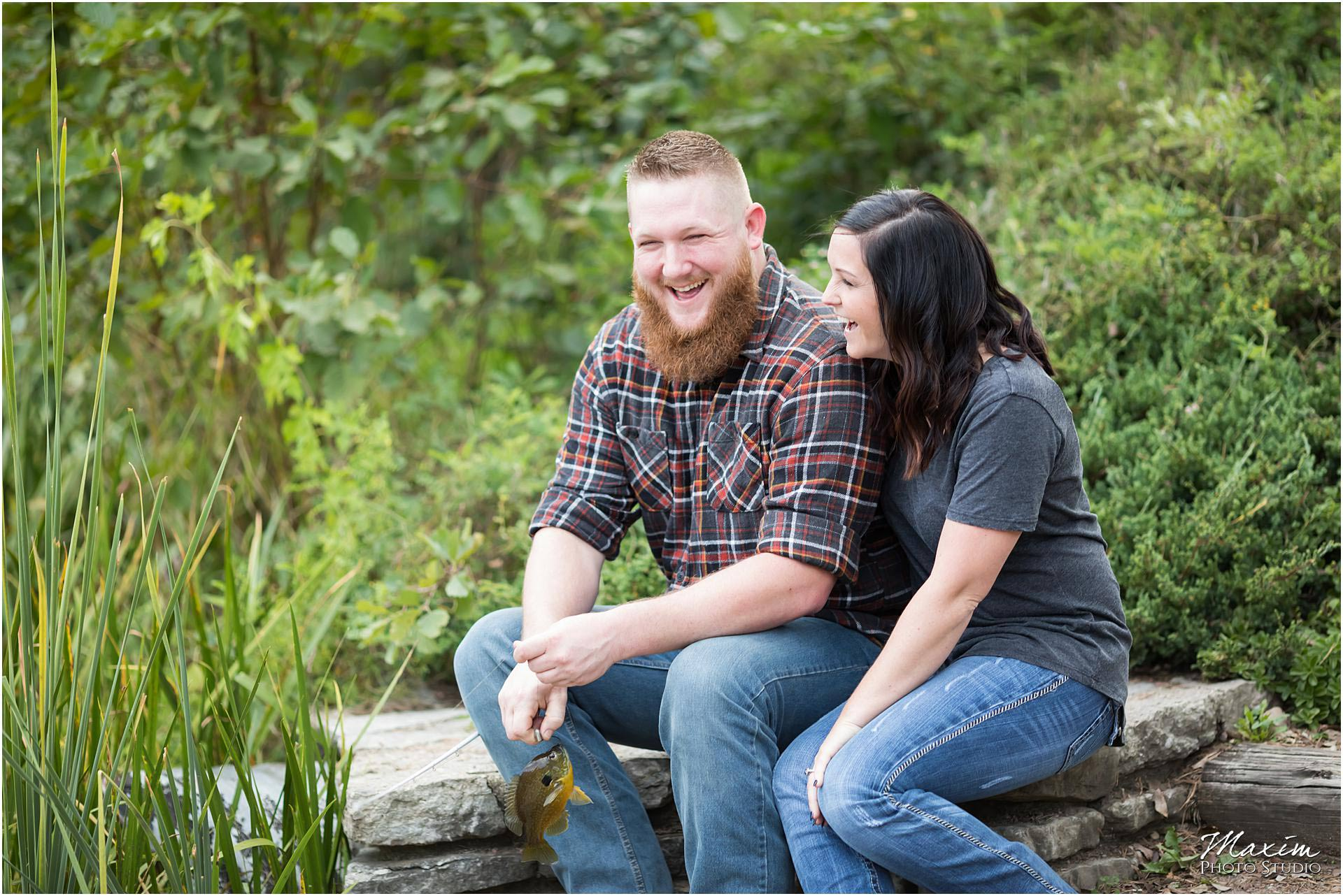 Cox Arboretum Dayton Ohio engagement fishing