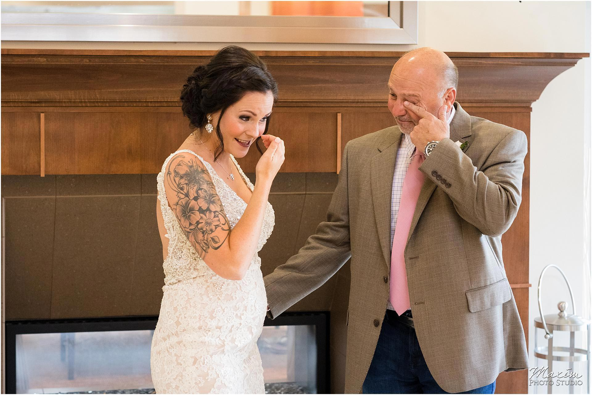 Hilton Garden Inn Austin Landing dad bride crying