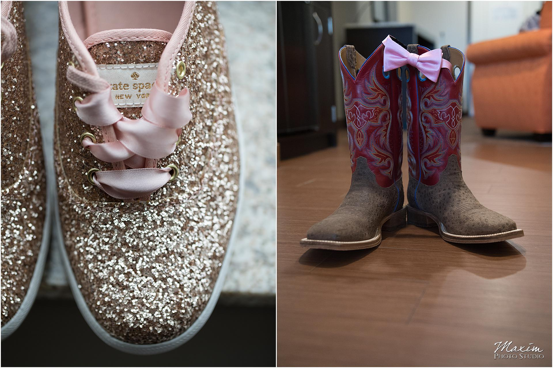 Hilton Garden Inn Austin Landing wedding shoes