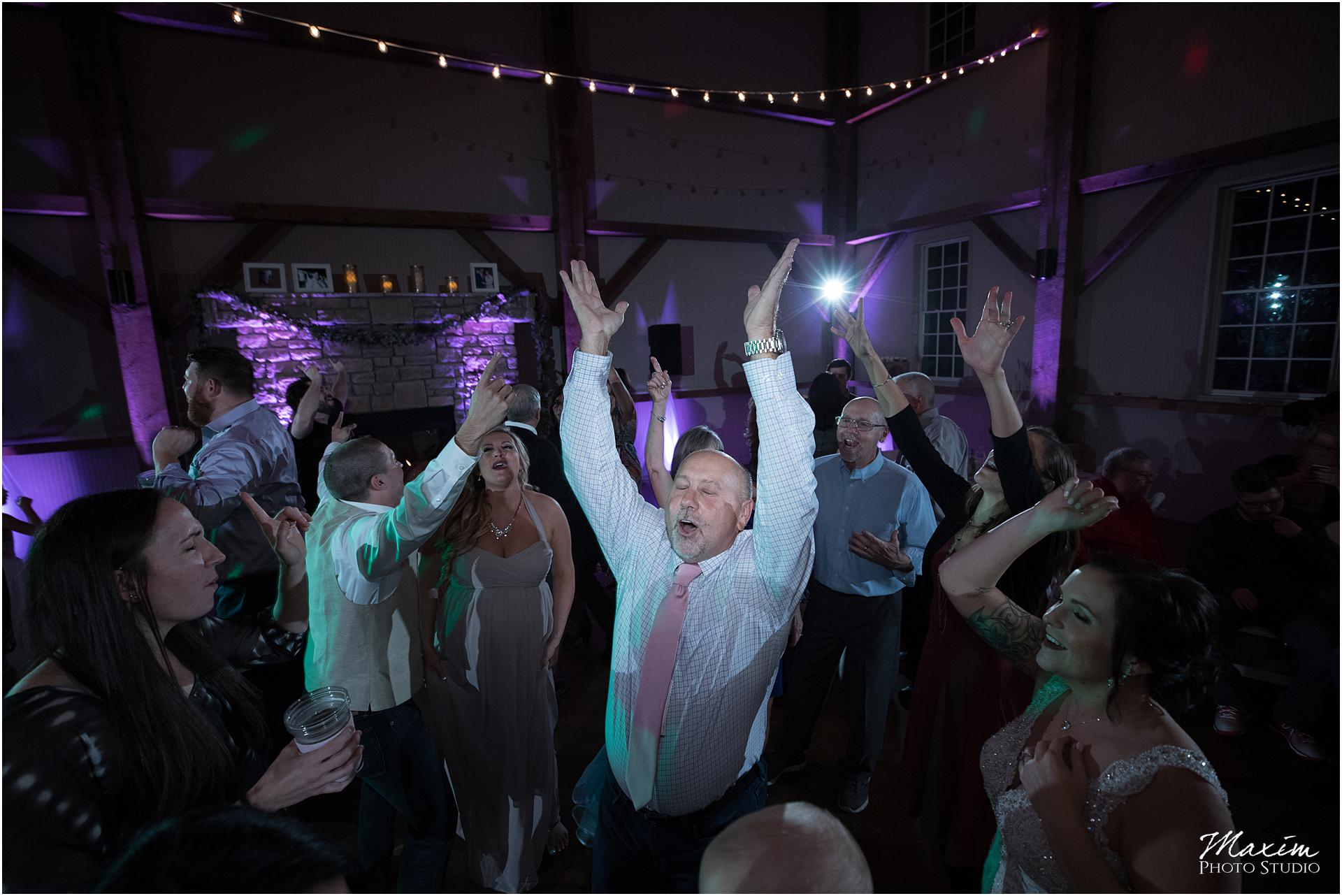 Muhlhauser Barn Wedding Reception guest dance