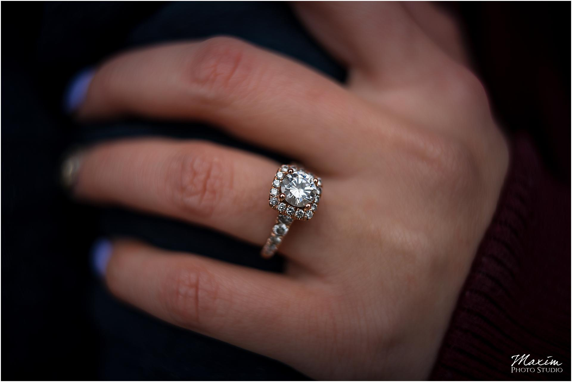 Ault Park Wedding ring, bridal portraits, Cincinnati engagement