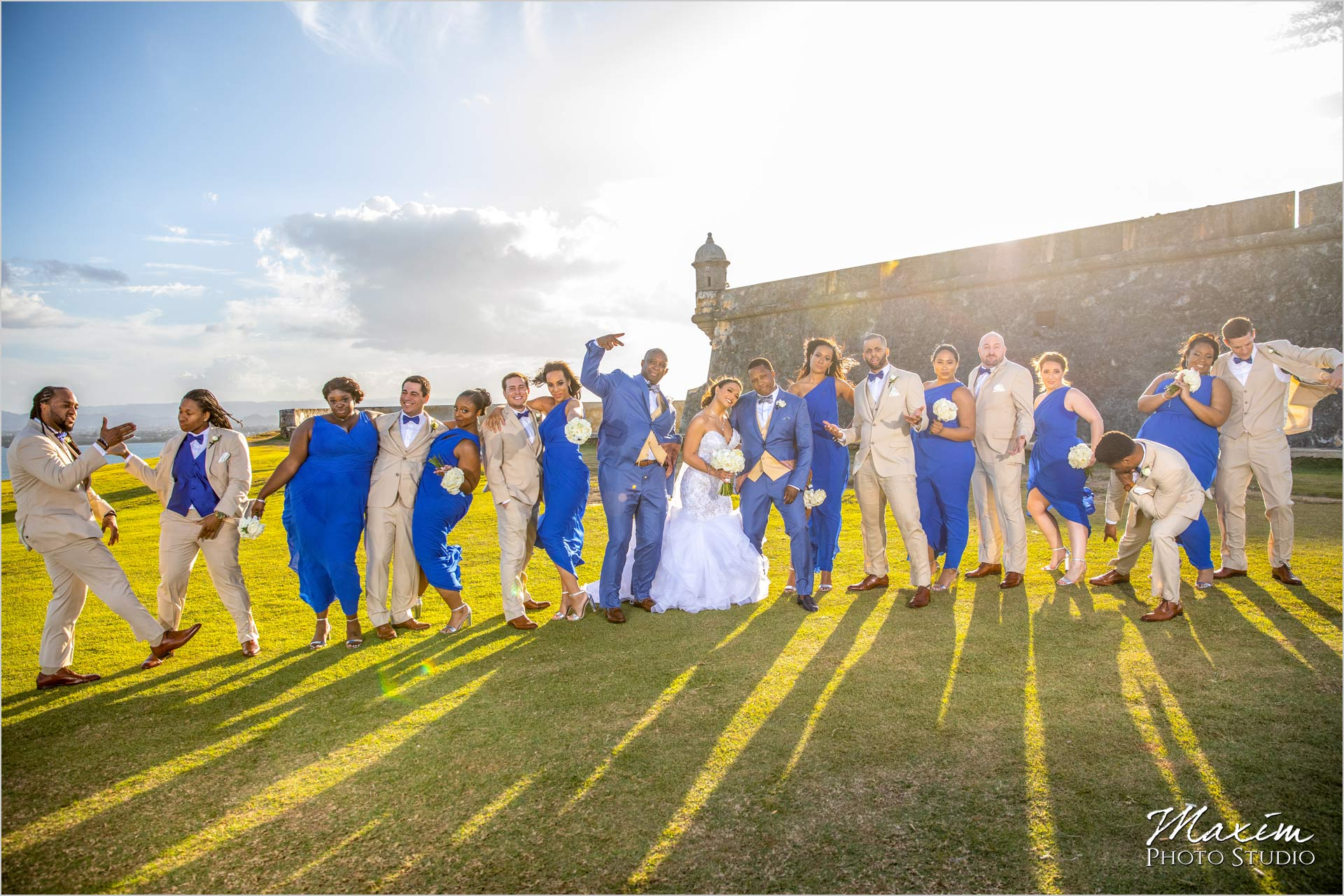 San Juan Puerto Rico Bride Groom Destination Wedding Bridal Party