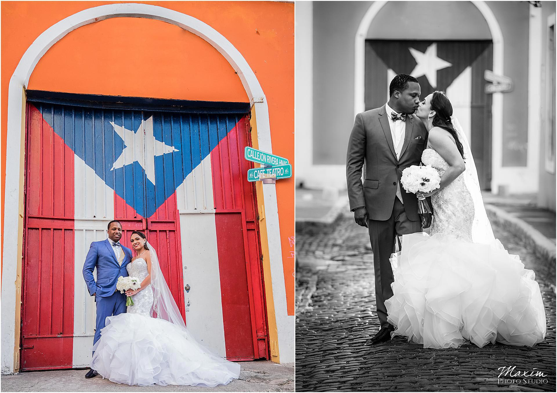 San Juan Puerto Rico Bride Groom Destination Wedding Bride Groom
