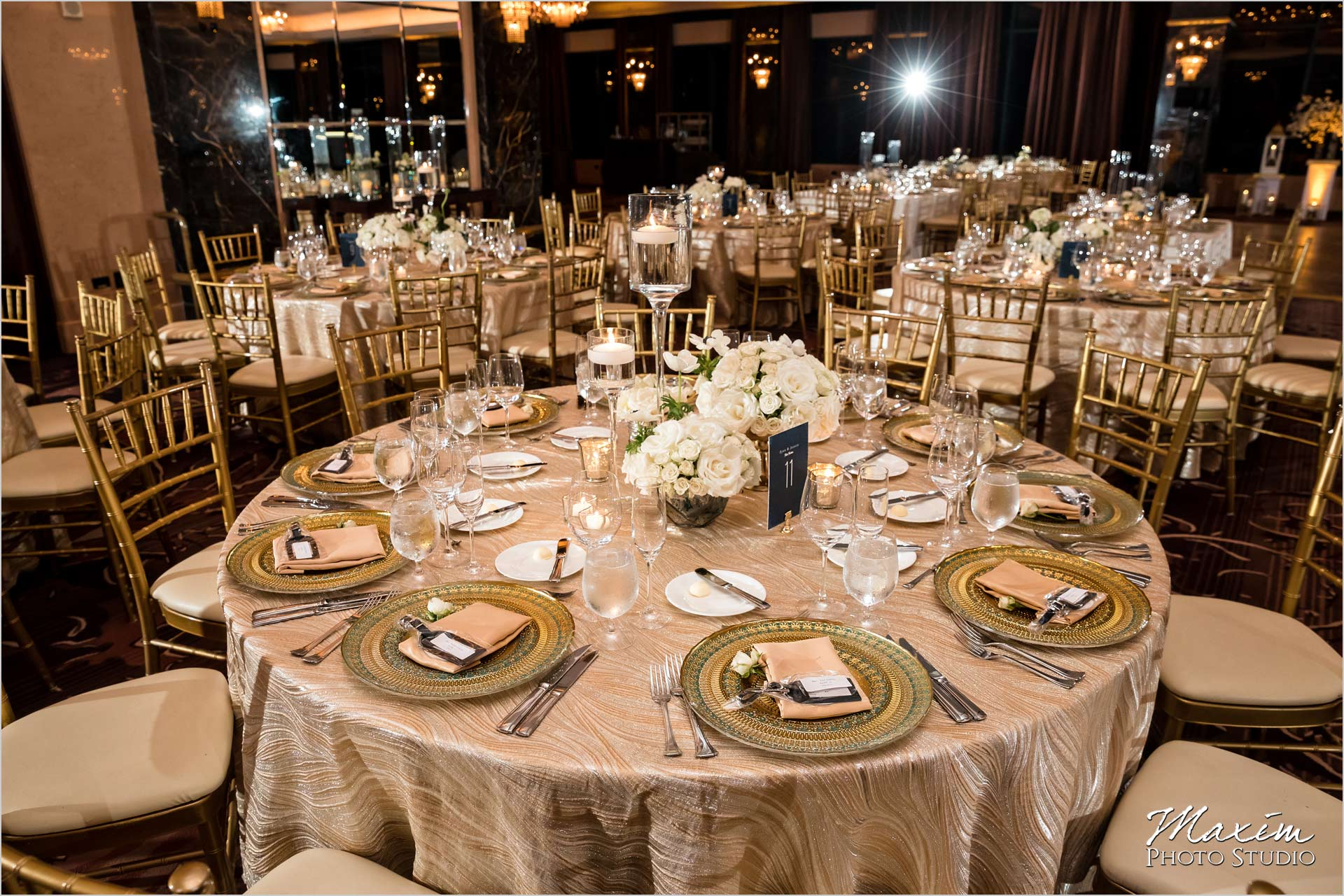 Condado Vanderbilt Wedding Reception Table Setting