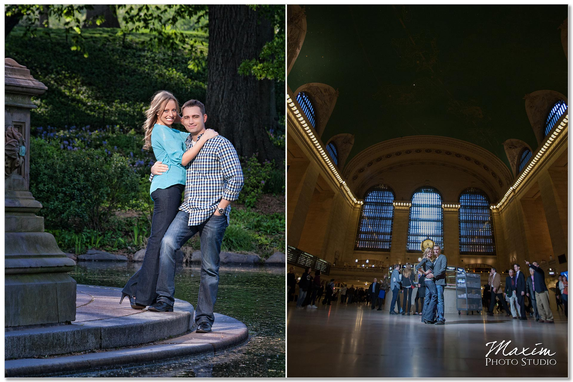 Best Cincinnati Photographer Central Park NYC Engagement