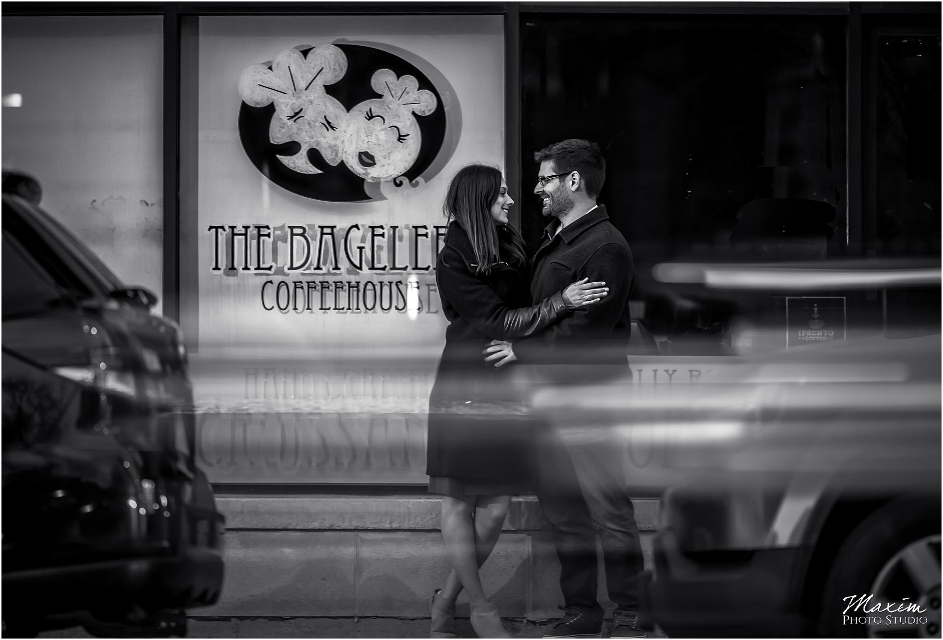 The Bageller Coffeeshop Chicago engagement