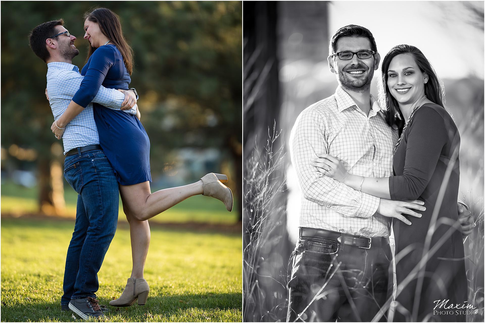 Lincoln Park Chicago destination engagement couple