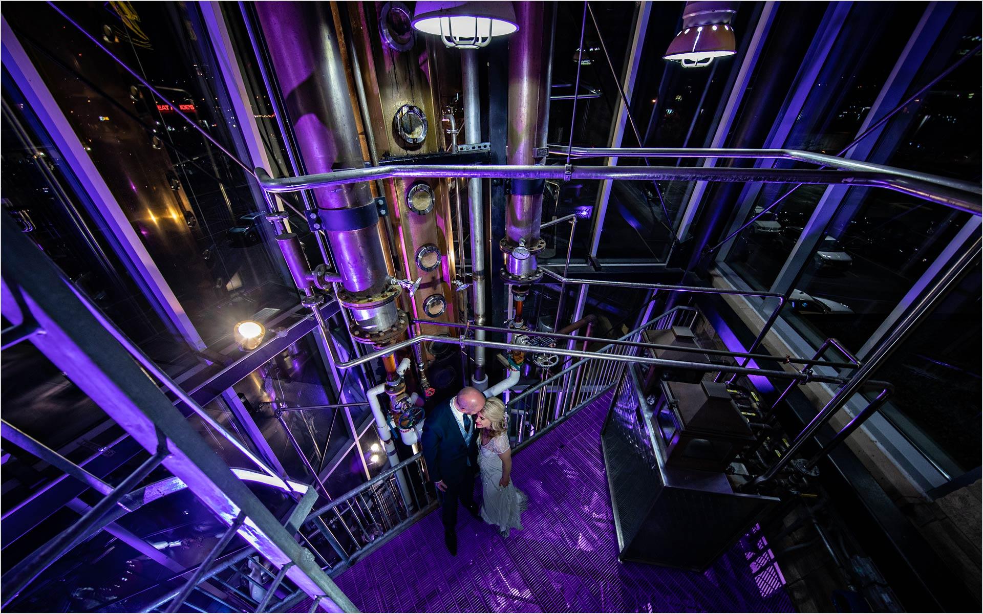 New Riff Brewery Brewtower Wedding purple