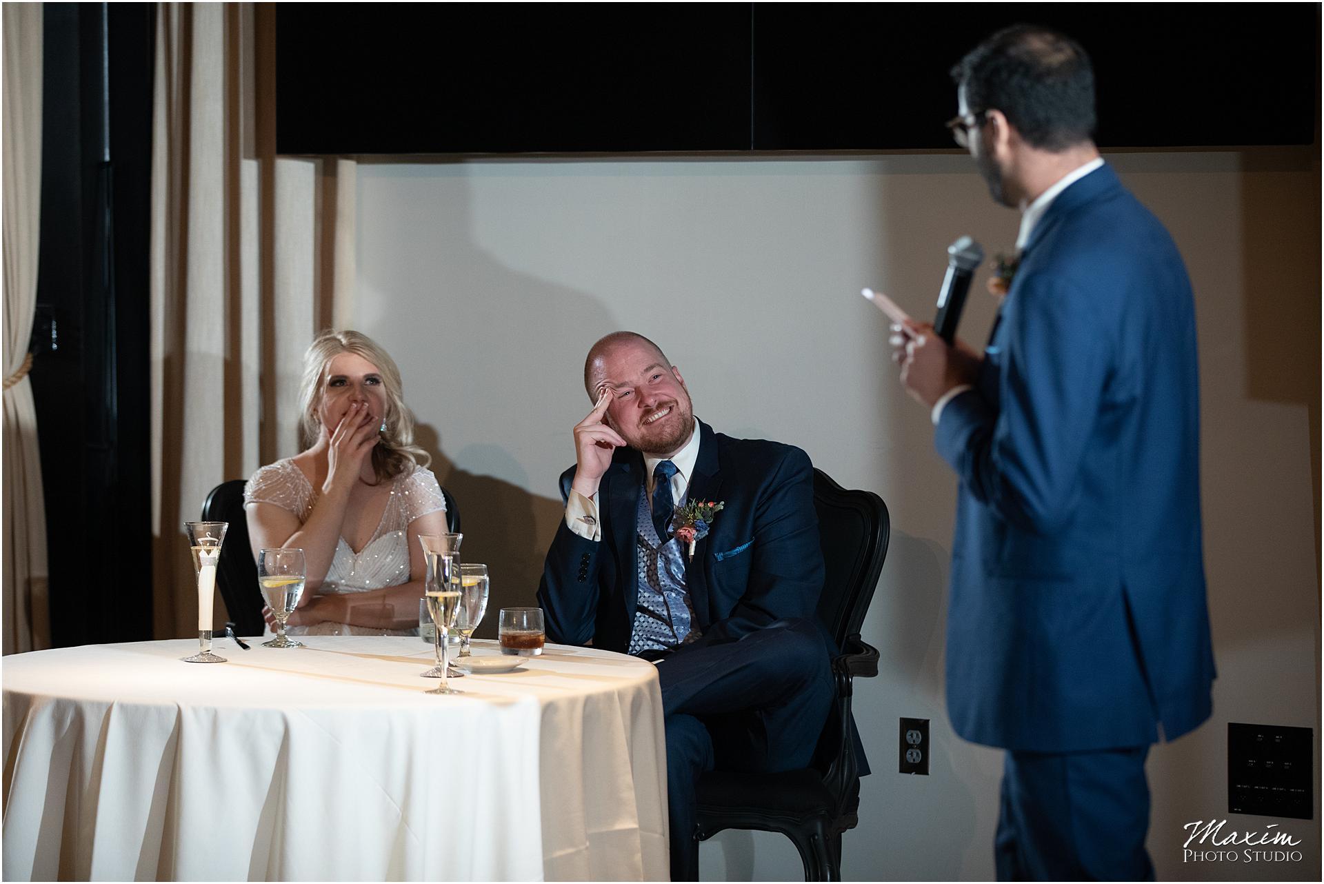 New Riff Brewery Wedding Reception toast