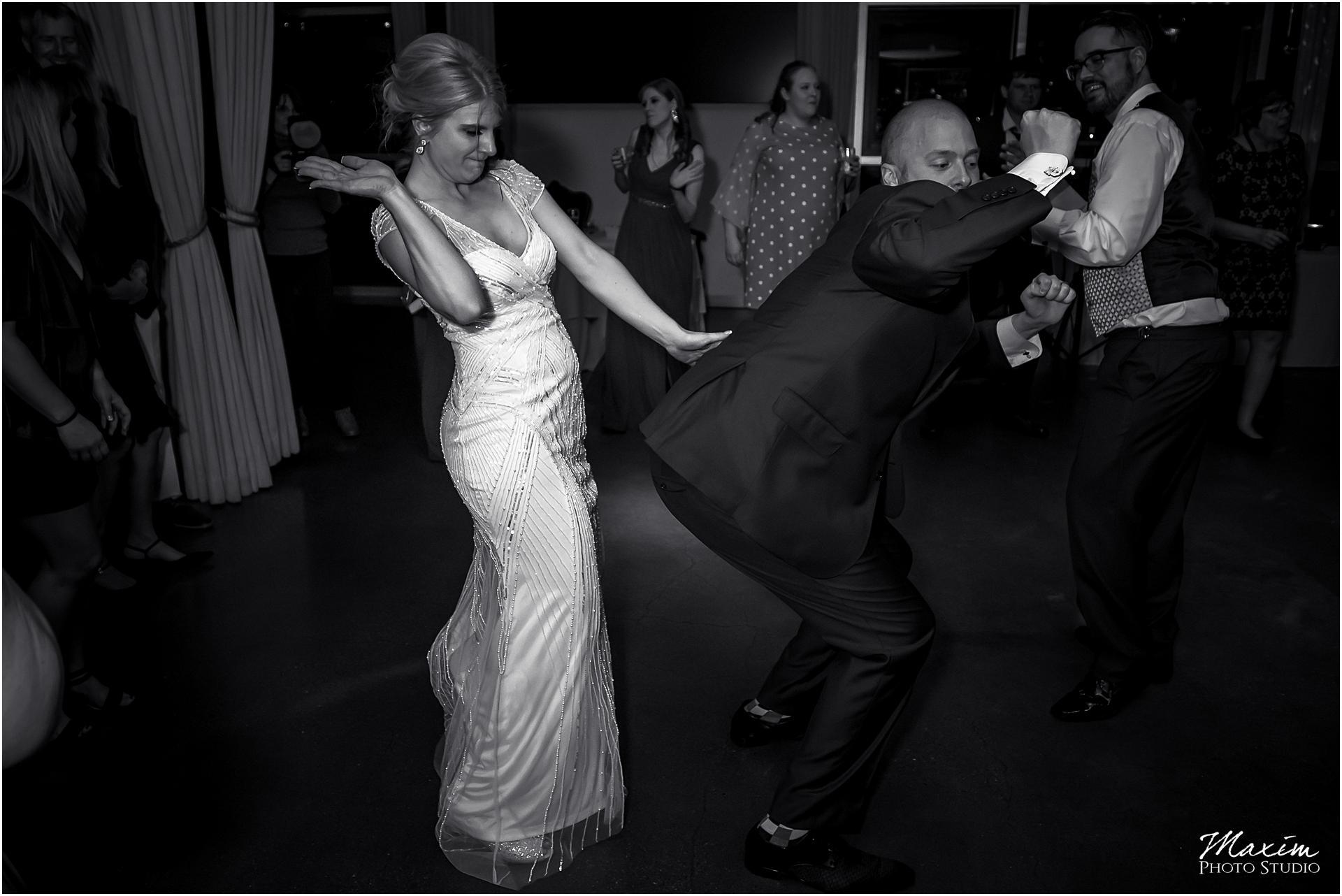 New Riff Brewery Wedding Reception dance