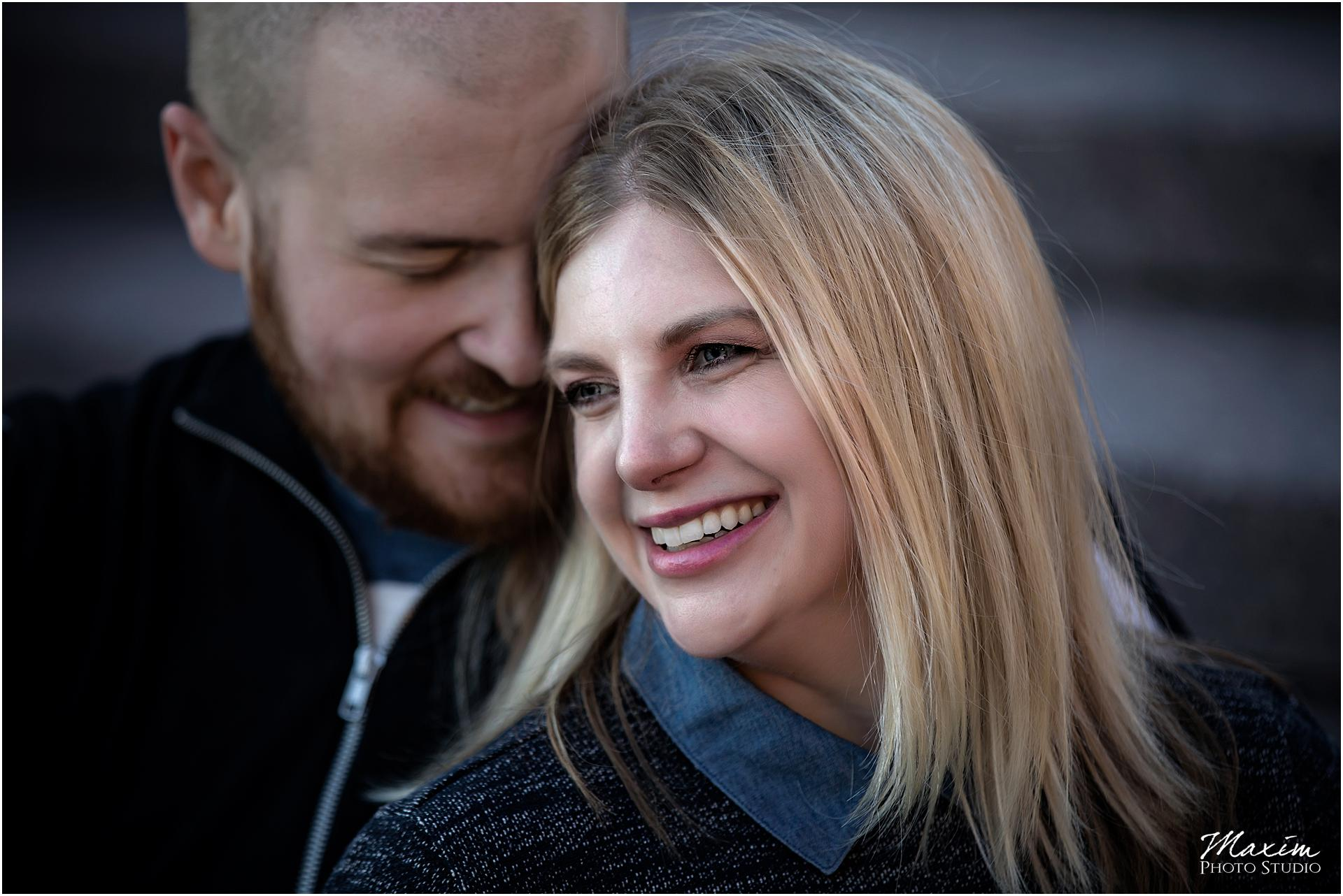Smale Riverfront Engagement couple Cincinnati