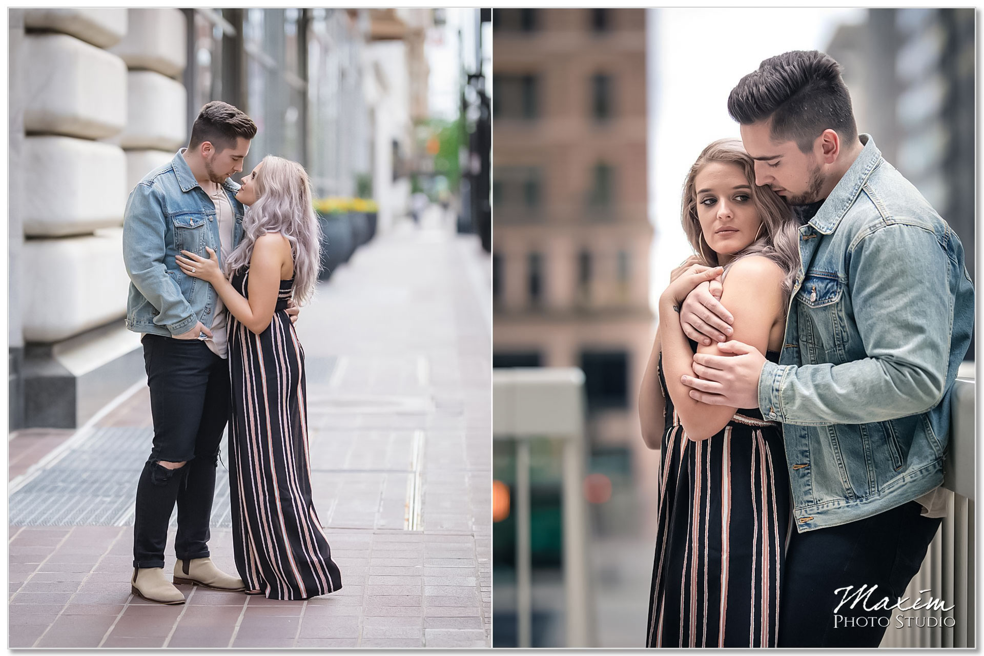 Downtown Cincinnati Romantic Engagement