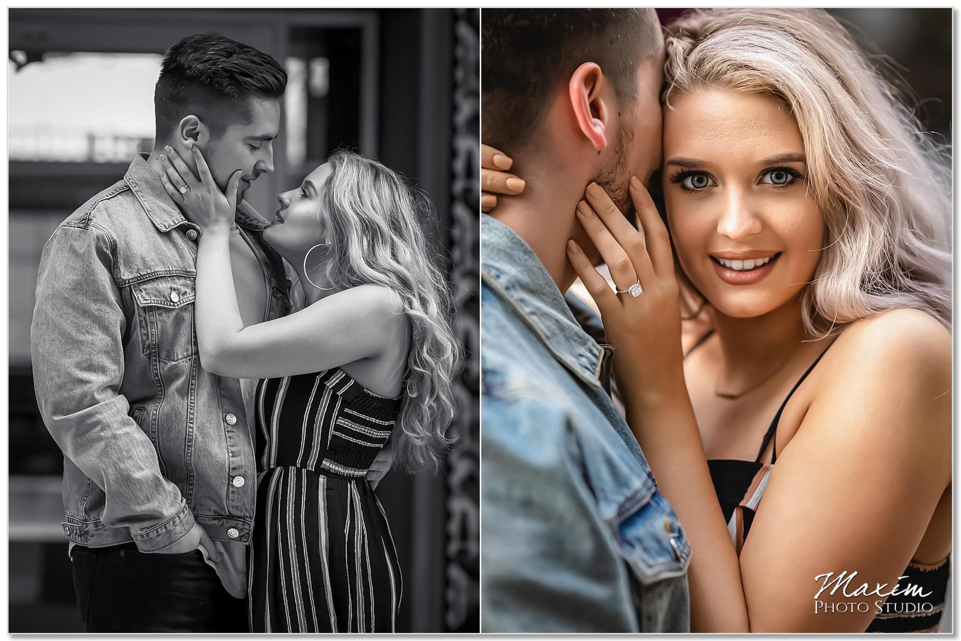 Classic Downtown Cincinnati engagement