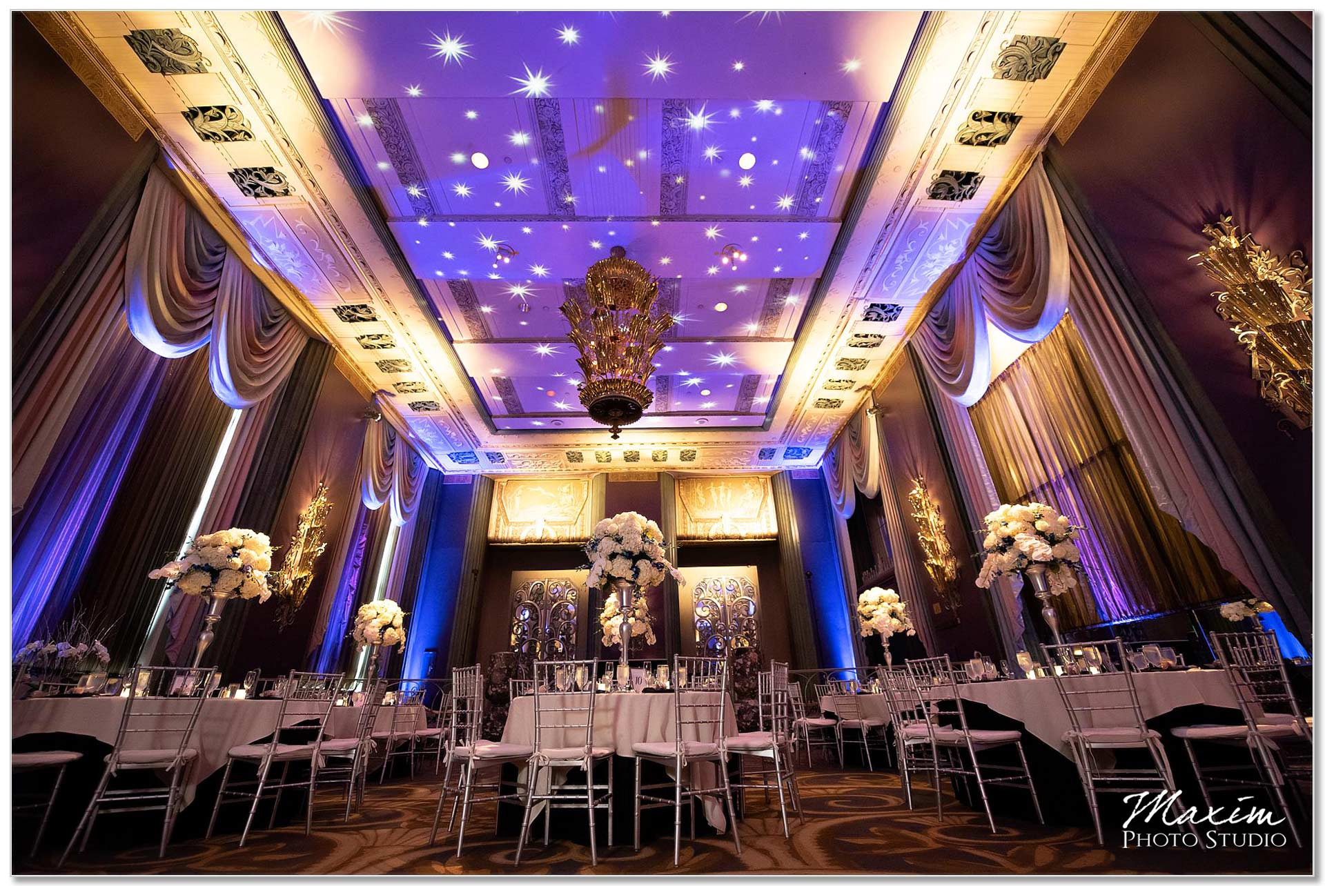 Decor wedding reception Hilton Netherland Plaza