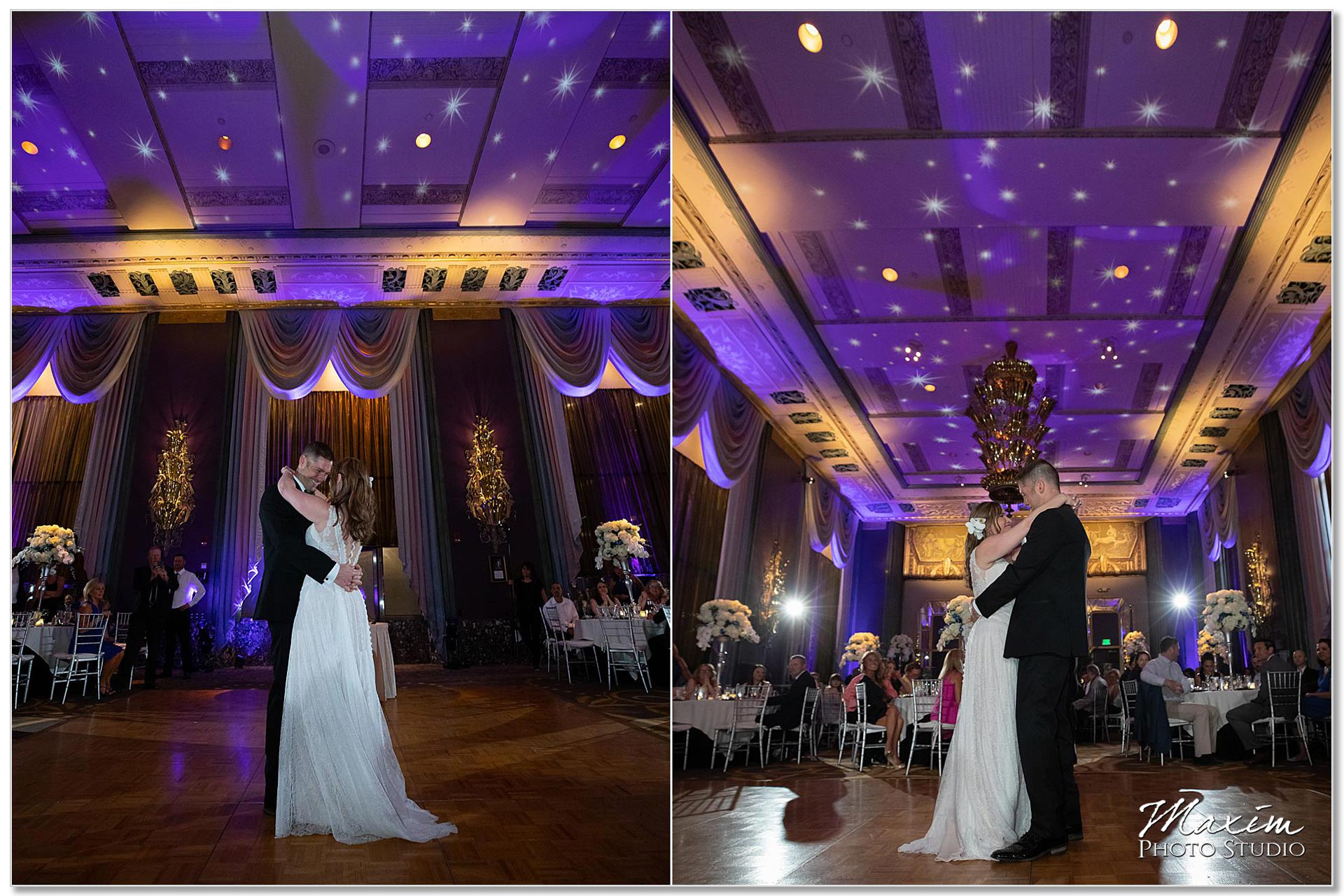 Hilton Netherland Plaza Cincinnati Wedding first dance